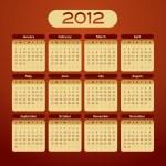 2012 calendar - vintage styled — Stock Vector