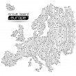 Circuit board europe map background — Stock Vector