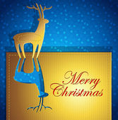 創造的なクリスマスのグリーティング カード - ペーパー アート - ベクトル イラスト — ストックベクタ