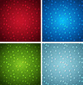 Christmas colorful vector backgrounds collection — Stock Vector