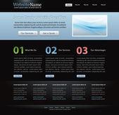 Dunkle elegante homepagevorlage für designer — Stockvektor