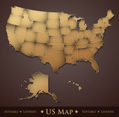 US Map — Stock Vector