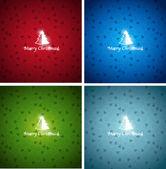 Collection de noël coloré vector backgrounds — Vecteur