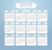 2012 business calendar — Stock Vector