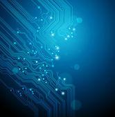 Abstact blauwe technische achtergrond — Stockvector