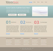 Editable website design template — Stock Vector