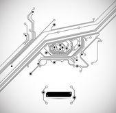 Fundo de olho de placa de circuito — Vetorial Stock