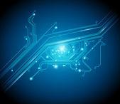 Informações básicas conceituais de olho de placa de circuito — Vetorial Stock
