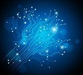Circuit board tree background - creative idea vector — Stock Vector