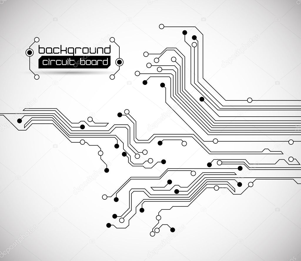 Circuit board background texture - vector - isolated on white — Stock Vector #7793844