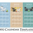Royalty-Free Stock Vector Image: Calendar collection 2012 with stylized dragons