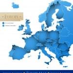 mapa de Europa del vector — Vector de stock