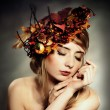 Autumn lady portrait — Stock Photo