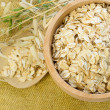 Oat Flake in Bowl on Background — Stock Photo
