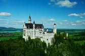 Neuschwanstein Castle, Bavaria, Germany - spring landscape — Stock Photo