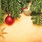 Christmas vintage greeting card - Xmas background — Stock Photo #7582306
