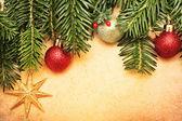 Christmas vintage greeting card - Xmas background — Stock Photo