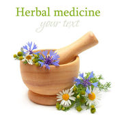 Herbal medicine and treatment — Stock Photo