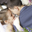 Bride and Groom - happy couple - Stock Photo