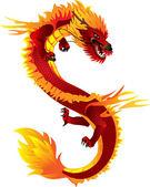 Dragon color — Stock Vector