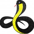 Royalty-Free Stock Vector Image: Black cobra