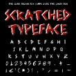 Scratched typeface — Stock Photo #6976757