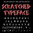 Scratched typeface — Stock Photo