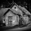 Haunted house in the woods - Stock Photo
