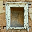 Empty window frame grunge background texture — Stok fotoğraf