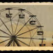 Royalty-Free Stock Photo: Vintage photo of ferris wheel in amusement park