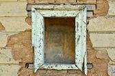 Empty window frame grunge background texture — Stock Photo