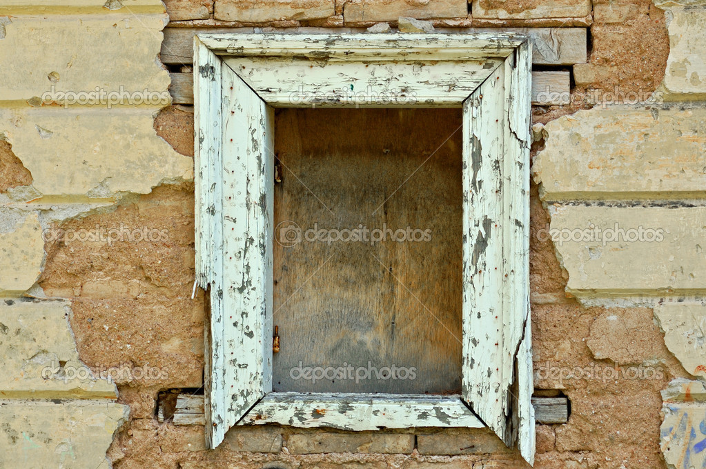 Wooden Window Frame Texture Empty Wooden Window Frame And