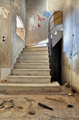 Vintage staircase and dirty floor — Stock Photo