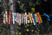 Old clothespins — Stock Photo