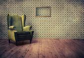 Vieux fauteuil façonné — Photo