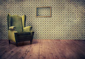 Old fashioned armchair — Stock Photo