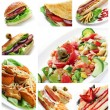 Restaurant Food Collage — Stock Photo #6880284