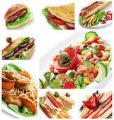 Restaurant Food Collage — Stock Photo