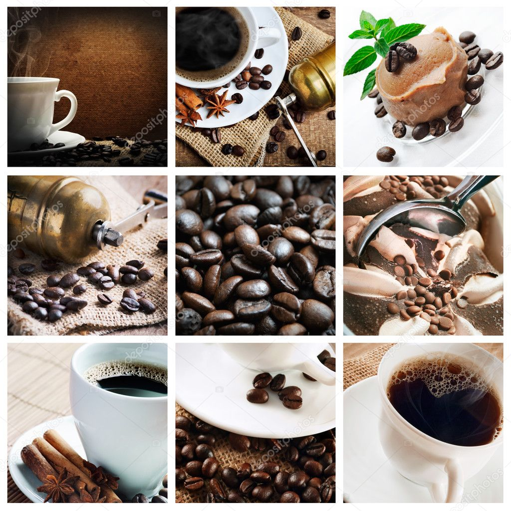 Collage of coffee and coffee products — Stock Photo #6880207