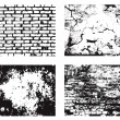 Grunge wall textures set - Stock Vector