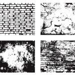 Grunge wall textures set — Stock Vector