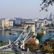 The Chain Bridge in Budapest — Stock Photo