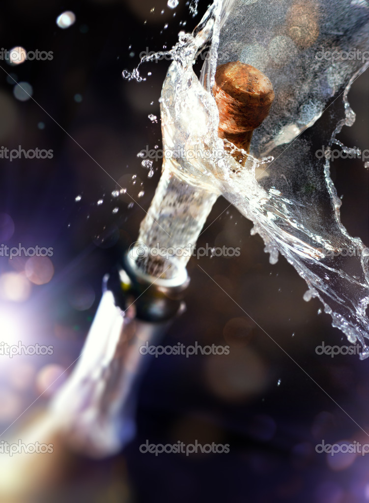 Close up of champagne cork  Stock Photo #7684430