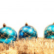 Christmas card with christmas-tree decorations — Foto Stock