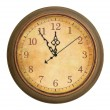 图库照片: Old antique clock isolated