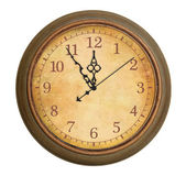 Old antique clock isolated — Stock Photo