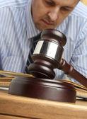 Gavel & male lawyer — Stock Photo