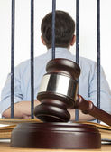 Gavel & male offender — Stock Photo