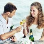 Свадебный стол — Стоковое фото