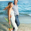 Couple on the beach — Stock Photo #6807657